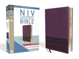 NIV, Thinline Bible, Large Print, Leathersoft, Purple, Red Letter Edition, Comfort Print