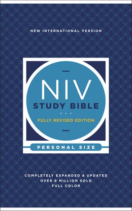 NIV Study Bible, Fully Revised Edition, Personal Size, Hardcover, Red Letter, Comfort Print