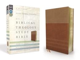 NIV, Biblical Theology Study Bible, Leathersoft, Tan/Brown, Comfort Print