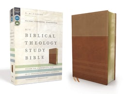NIV, Biblical Theology Study Bible, Leathersoft, Tan/Brown, Indexed, Comfort Print
