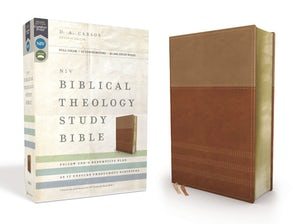 NIV, Biblical Theology Study Bible, Leathersoft, Tan/Brown, Indexed, Comfort Print