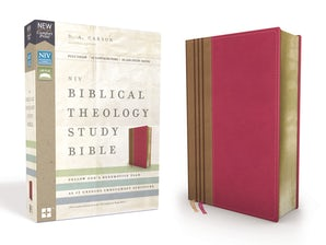 NIV, Biblical Theology Study Bible, Leathersoft, Pink/Brown, Comfort Print