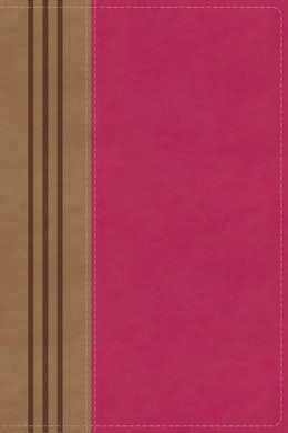 NIV, Biblical Theology Study Bible, Leathersoft, Pink/Brown, Thumb Indexed, Comfort Print