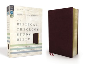 NIV, Biblical Theology Study Bible, Bonded Leather, Burgundy, Comfort Print