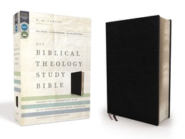 NIV, Biblical Theology Study Bible, Bonded Leather, Black, Comfort Print