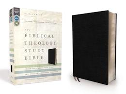 NIV, Biblical Theology Study Bible, Bonded Leather, Black, Thumb Indexed, Comfort Print