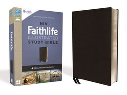 NIV, Faithlife Illustrated Study Bible, Premium Bonded Leather, Black