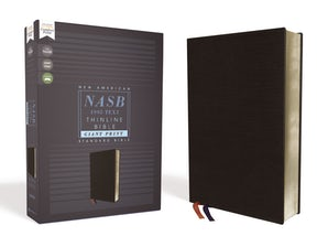 NASB, Thinline Bible, Giant Print, Bonded Leather, Black, Red Letter Edition, 1995 Text, Comfort Print book image