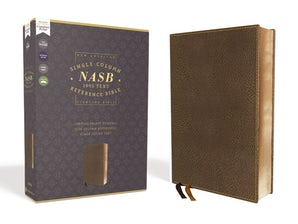 NASB, Single-Column Reference Bible, Wide Margin, Leathersoft, Brown, 1995 Text, Comfort Print book image