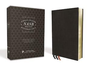 NASB, Single-Column Reference Bible, Wide Margin, Goatskin, Black, Premier Collection, 1995 Text, Comfort Print book image