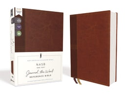 NASB, Journal the Word Reference Bible, Leathersoft over Board, Brown, Red Letter Edition, 1995 Text, Comfort Print