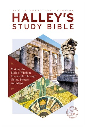 NIV, Halley's Study Bible, Hardcover, Red Letter Edition, Comfort Print book image