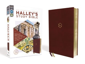 NIV, Halley's Study Bible, Leathersoft, Burgundy, Red Letter Edition, Comfort Print book image