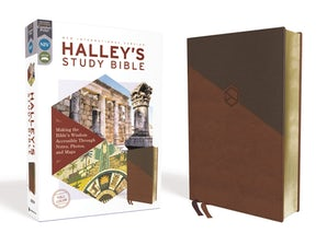NIV, Halley's Study Bible, Leathersoft, Brown, Red Letter Edition, Comfort Print book image