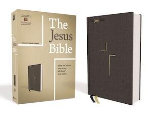The Jesus Bible, ESV Edition, Cloth over Board, Gray book image