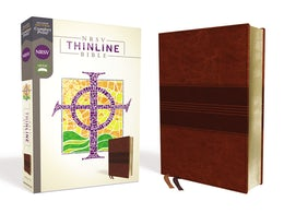 NRSV, Thinline Bible, Leathersoft, Brown, Comfort Print