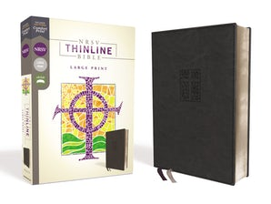 NRSV, Thinline Bible, Large Print, Leathersoft, Black, Comfort Print