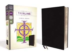 NRSV, Thinline Bible, Large Print, Bonded Leather, Black, Comfort Print