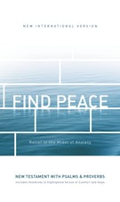 NIV, Find Peace New Testament with Psalms and Proverbs, Paperback