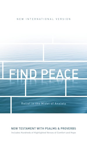 NIV, Find Peace New Testament with Psalms and Proverbs, Paperback book image
