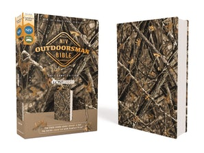 NIV, Outdoorsman Bible, Lost Camo Edition, Leathersoft, Red Letter Edition, Comfort Print book image