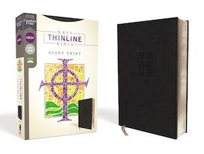 NRSV, Thinline Bible, Giant Print, Leathersoft, Black, Comfort Print book image