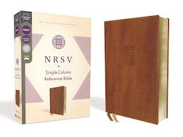 NRSV, Single-Column Reference Bible, Leathersoft, Brown, Comfort Print