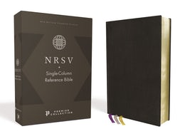 NRSV, Single-Column Reference Bible, Premium Goatskin Leather, Black, Premier Collection, Comfort Print