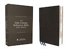 NIV, Wide Margin Side Column Reference Bible, Premium Goatskin Leather, Black, Premier Collection, Black Letter, Art Gilded Edges, Comfort Print