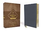 NIV, Heritage Bible, Passaggio Setting, Genuine Leather, Buffalo, Blue, Line Matched, Art Gilded Edges, Comfort Print