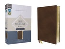 NIV, Thinline Bible, Passaggio Setting, Leathersoft, Brown, Red Letter, Comfort Print