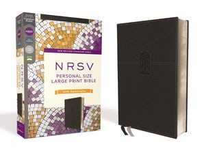 NRSV, Personal Size Large Print Bible with Apocrypha, Leathersoft, Black, Comfort Print book image