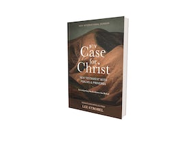 NIV, Case for Christ New Testament with Psalms and Proverbs, Pocket-Sized, Paperback, Comfort Print