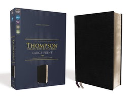 NIV, Thompson Chain-Reference Bible, Large Print, European Bonded Leather, Black, Red Letter, Comfort Print