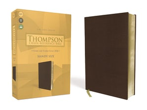 KJV, Thompson Chain-Reference Bible, Handy Size, Leathersoft, Brown, Red Letter book image