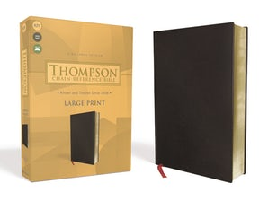 KJV, Thompson Chain-Reference Bible, Large Print, Bonded Leather, Black, Red Letter book image