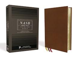 NASB, Thinline Bible, Premium Goatskin Leather, Brown, Premier Collection, Black Letter, Gauffered Edges, 2020 Text, Comfort Print