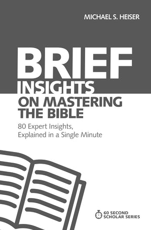 Brief Insights on Mastering the Bible book image
