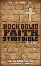 NIV, Rock Solid Faith Study Bible for Teens: Build and defend your faith based on God