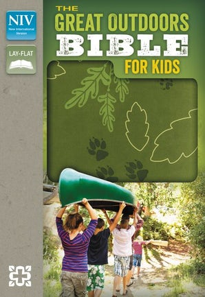 NIV, The Great Outdoors Bible for Kids, Imitation Leather, Green, Red Letter book image