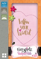 NIV, Faithgirlz Backpack Bible, Compact, Leathersoft, Pink