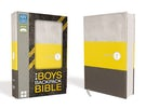 NIV, Boys Backpack Bible, Compact, Leathersoft, Yellow/Charcoal