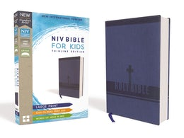 NIV, Bible for Kids, Large Print, Leathersoft, Blue, Red Letter Edition, Comfort Print