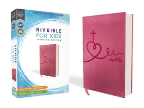 NIV, Bible for Kids, Leathersoft, Pink, Red Letter Edition, Comfort Print