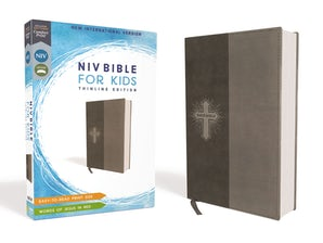 NIV, Bible for Kids, Leathersoft, Gray, Red Letter Edition, Comfort Print