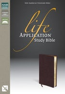 NASB, Life Application Study Bible, Bonded Leather, Pink/Purple
