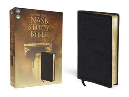 NASB, Zondervan NASB Study Bible, Bonded Leather, Black, Red Letter Edition