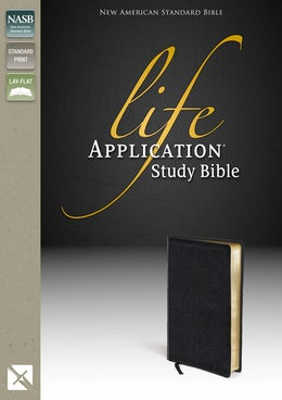 NASB, Life Application Study Bible, Second Edition, Top-Grain Leather, Black