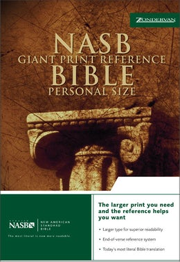 NASB, Reference Bible, Giant Print, Personal Size, Bonded Leather, Burgundy, Red Letter Edition