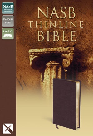 NASB, Thinline Bible, Bonded Leather, Burgundy, Red Letter Edition